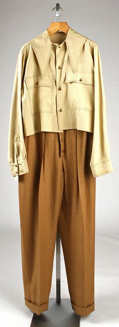 Shirt and trousers ensemble for women, designed by Clare McCardell 1949.