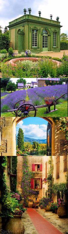 Beautiful garden in France