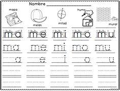 Silabas Directas con M - ma, me, mi, mo, mu - trazando silabas - semana 6 del programa