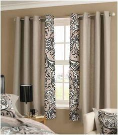 cortinas dormitorio matrimonio, elementos iguales en las cortinas y las fundas de las almohadas, ambiente en beige