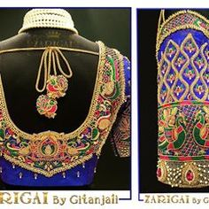 Zarigai By Gitanjali👑 ( Bridal Blouse Designs, French Knots, Work Blouse, Embroidered Blouse, Colours, Photo And Video, Boutique, Luxury, Womens Fashion