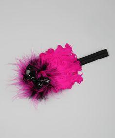 My Sunshine Shoppe Hot Pink & Black Feather Headband Hot Pink, Pink Black, Feather Headband, Black Feathers, My Sunshine, Hair Bows, Bobby Pins, Headbands, Sparkle
