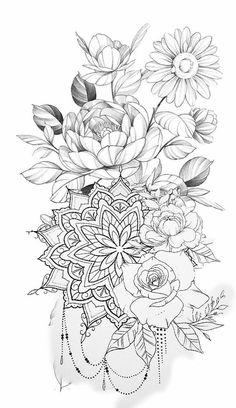 Pretty Tattoos, Cute Tattoos, Leg Tattoos, Beautiful Tattoos, Body Art Tattoos, Small Tattoos, Sleeve Tattoos, Tatoos, Mandala Tattoos For Women
