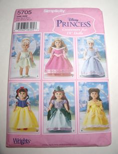 New Simplicity Pattern Disney Princess by purrfectstitchers, $6.00