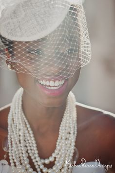 Styled Bridal Shoot- Natural Hair Bride with veil   Photography by http://kishapierredesigns.com/ http://beautifulbrownbride.blogspot.com/