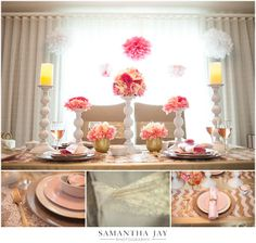 Gold and Blush Pink Tablescape I  Samantha Jay Wedding Photography Valentine's Day Styled Shoot at The Reeds at Shelter Haven- Stone Harbor, New Jersey