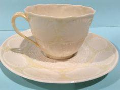 Belleek Tea Cup and Saucer, Irish Tea Cup, Shell Belleek China, Irish Porcelain, Green Mark Belleek, Antique Tea Cups by AprilsLuxuries on Etsy