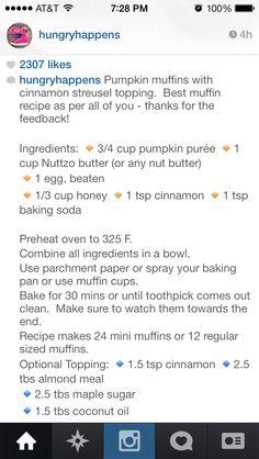 Pumpkin Muffin via HungryHappens