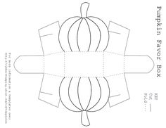 Pumpkin box template