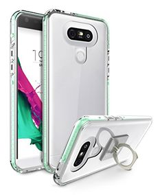 LG Case, Scratch Resistant Shock Absorbent Slim Clear Back TPU Bumper Case Cover for LG with 1 Ring Holder Kickstand [Clear]: Slim Fit Scratch Resistant Clear Case/bbrbr Features: /bbrbr Iphone 4s, Iphone Cases, Lg G5, Cool Phone Cases, Samsung Galaxy S5, Ipad Mini, Ipad Case, Cell Phone Accessories, Cover