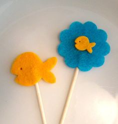Summer Fun Under the Sea Fish Felt Toothpick by AllyandAidan, $6.00
