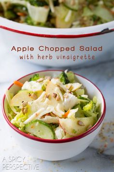 ... Salad with Herb Vinaigrette on ASpicyPerspective.com #salad #healthy