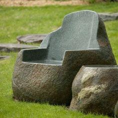 Stone Chair. Aquafina Gardens International, Michigan.