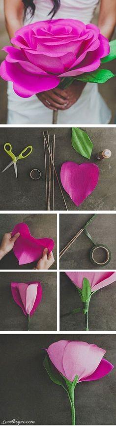 DIY paper flowers flowers diy diy ideas diy crafts do it yourself diy tips diy images do it yourself images diy photos diy pics paper flowers