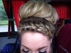 French braid and bun