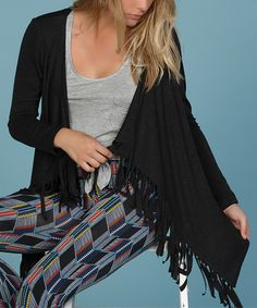 Lucy Love Charcoal Gray Sunset Heights Cardigan by Lucy Love #zulily #zulilyfinds