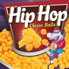 Hip Hop Corn Puffs Packaging on Behance Corn Puffs, Cheese Ball, Cereal, Hip Hop, Packaging, Behance, Mood, Breakfast, Behavior
