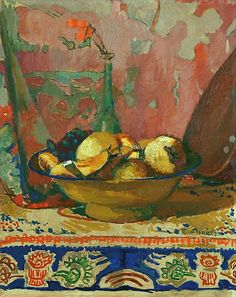 Cuno Amiet (Swiss, 1868-1961) - Still life with fruit, 1937