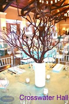 A Tiffany and Co. inspired wedding held at Crosswater Hall at Nocatee. #weddingvenues #jacksonville
