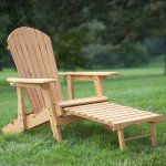 Coral Coast Big Daddy Reclining Adirondack Chair with Pull-out Ottoman- Natural