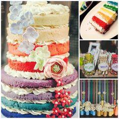 Glamorous Rainbow Wedding Ideas -InvitesWeddings.com