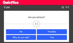 A well designed quiz creation site with a large bank of free and paid-for pre-made questions.
