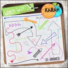 Which Way? - arrow doodles by Karah Fredricks ... Digital Scrapbooking