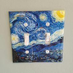 This is the first double toggle light switch I've made in this starry night print and I love it!