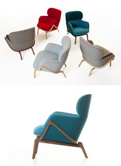 Luca Nichetto and De La Espada at Stockholm Design Week - Elysia Lounge Chair, preview of '50/50' collection