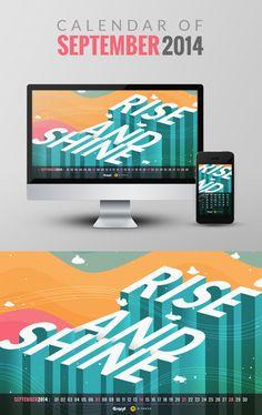 Free Wallpaper Calendar of September 2014 (for Mobile and Desktop) - http://designyoutrust.com/2014/09/free-wallpaper-calendar-of-september-2014-for-mobile-and-desktop/