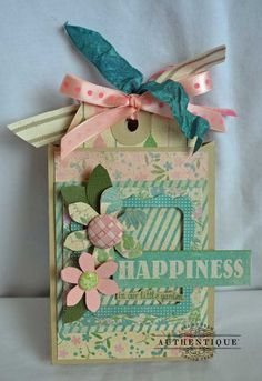 A Simple Spring Mini Album using your Silhouette :by AUTHENTIQUE