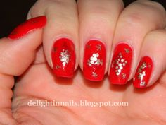 Delight in Nails: 10 Day Holiday Nail Art Challenge: Day 3 - Giftwrap