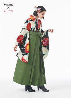袴 emma - Marie Henry Style Traditional Japanese Kimono, Traditional Fashion, Traditional Outfits, Kimono Outfit, Kimono Fashion, Japanese Street Fashion, Asian Fashion, Hanfu, Girl Outfits