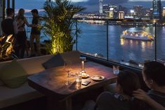 This just in from our good friend The Cooee Cordless Lamp overlooking the Victoria Harbour at Seafood Room Hong Kong.
