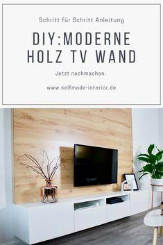 Schritt für Schritt Anleitung: DIY Holz TV Wand TV Wall selber machen
