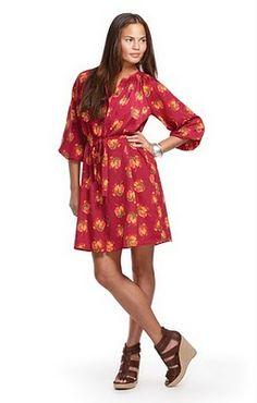 9e4112231b8bc3  Pink and orange dress from Target. orange dresses  2dayslook  orange style