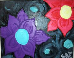 Abstract Flower Art by SteffannReneeArt on Etsy, $46.00