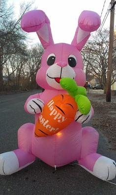 Captivating Easter Bunny Rabbit Yard Decor Inflatable Spring Carrot Garden Air Display  Light #Easter | Room Full Of Easter Stuff | Pinterest | Display Lighting