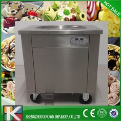 Ice Pan machine,Fried ice cream machine, one pan flat fry ice cream machine,Commercial ice cream roll machine