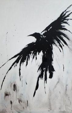 Except a dragon instead of a crow. - Except a dragon instead of a crow. Future Tattoos, New Tattoos, Body Art Tattoos, Tatoos, Tattoos Cover Up, Sleeve Tattoos, Tatuaje Trash Polka, Raven Art, Crow Art