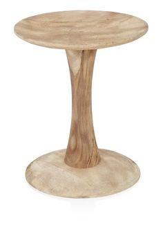 Sandblasted Spool Side Table