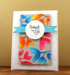 Cut out leaves in coordinated patterned paper