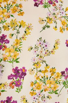 FLORAL PRINT TOP - TOPS-WOMAN   ZARA Australia Flower Pattern Design, Floral Print Design, Motif Floral, Ditsy Floral, Vintage Flower Prints, Vintage Flowers, Floral Artwork, Floral Print Wallpaper, Floral Illustrations