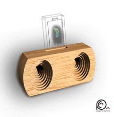 PhoneSS(StereoSound) A wooden gadget for smartphones which amplify sound!