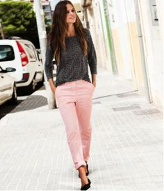 Go grey and pink