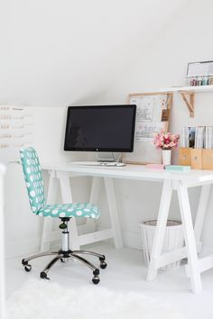 Heart Handmade UK: Bright White and Organized Workspace and Craft Room | Annabelle Kerslake from Fete Magazine