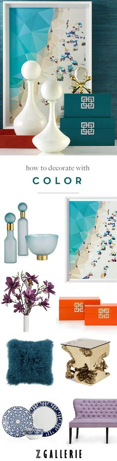 The Fashionable Home Guide to Color: learn how to use color to make a style statement in every room on zgallerie.com!