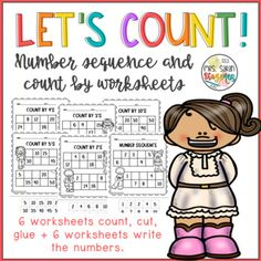 A set of 12 worksheets to practice number sequence and counting by 2's, 3's, 4's, 5's and 10. Two different activities: have students cut the numbers and paste on the blanks, or fill them writing what is missing. Great activity to reinforce number sense skills. No prep, ready to use.