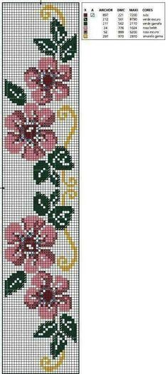 Really nice Cross-Stitch towel flowers patterns. Cross Stitch Bookmarks, Mini Cross Stitch, Cross Stitch Rose, Cross Stitch Borders, Cross Stitch Flowers, Cross Stitch Designs, Cross Stitching, Cross Stitch Embroidery, Hand Embroidery