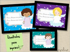papel maçã: Quadrinhos de oração - meninas